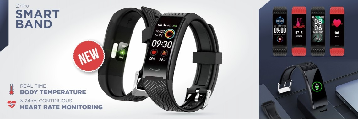 SMART BAND WITH BODY TEMPERATURE
